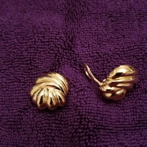 Clip/earrings, gold finish